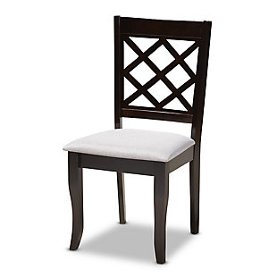 Verner Gray Fabric Upholstered Espresso Brown Finished Wood Dining Chair, , large