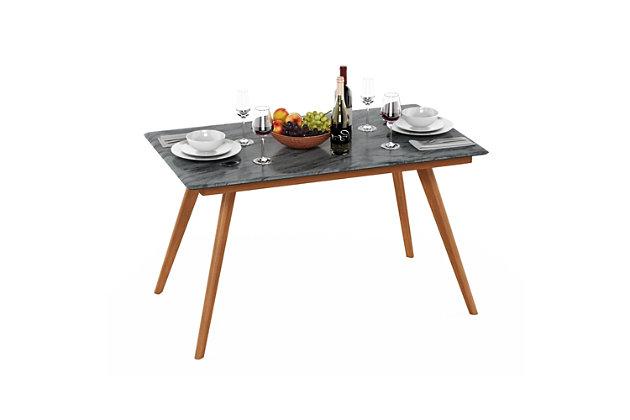 Redang Dining 4-Leg Rectangular Smart Top Table, Tripula, Gray, large