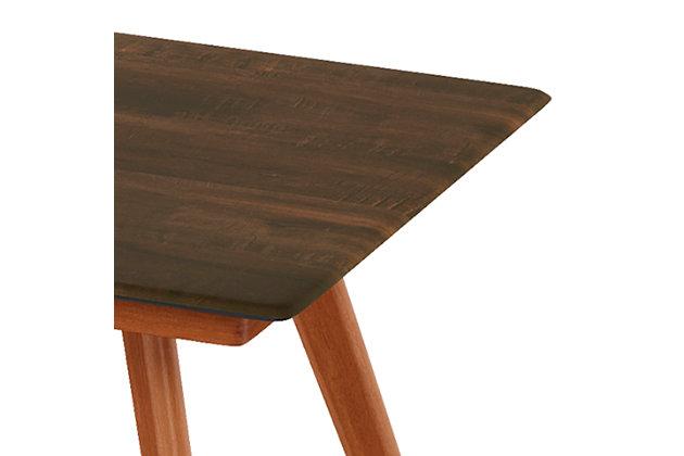 Redang Dining 4-Leg Rectangular Smart Top Table, Walnut, Walnut, large