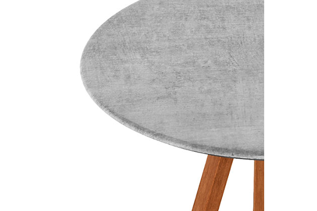 Redang Dining 3-Leg Round Smart Top Table, Cement, , large
