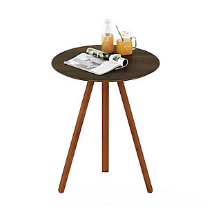 Redang Dining 3-Leg Round Smart Top Table, Cement, Brown, large