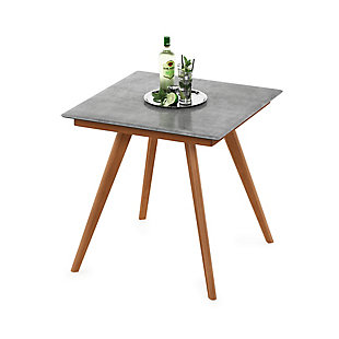 Redang Dining 4-Leg Square Smart Top Table, Cement, Light Gray, rollover