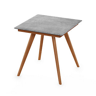 Redang Dining 4-Leg Square Smart Top Table, Cement, Light Gray, large
