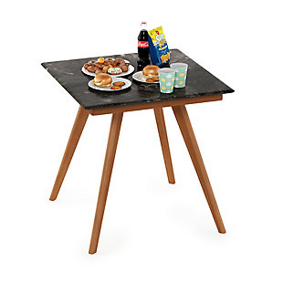 Redang Dining 4-Leg Square Smart Top Table, Paladina, Brown, rollover