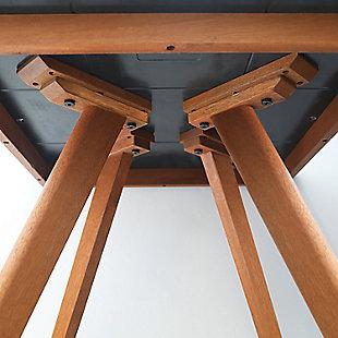 Redang Dining 4-Leg Square Smart Top Table, Paladina, Brown, large