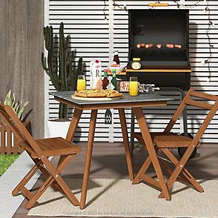 Redang Dining 4-Leg Square Smart Top Table, Tripula, Gray, large