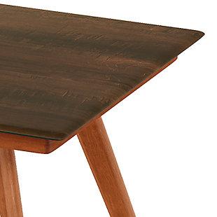 Redang Dining 4-Leg Square Smart Top Table, Walnut, Walnut, large