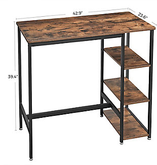 Blade Blade 3 Storage Shelves Bar Table, , large