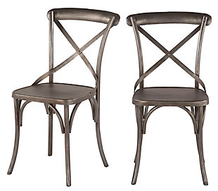 Anderson  Reclaimed Iron Dining Chairs (Set of 2), , large