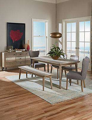 Quincy Warm Gray Linen Dining Chairs (Set of 2), Light Gray, rollover