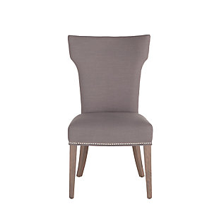 Quincy Warm Gray Linen Dining Chairs (Set of 2), Light Gray, large