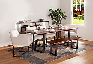 Rebel Off-White Linen Dining Chairs (Set of 2), , rollover