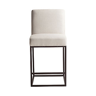 Rebel Off-White Linen Counter Chair, , rollover