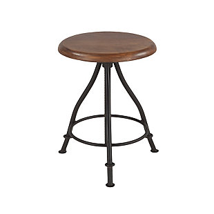 Artezia Acacia Wood Adjustable Bar Stool, , large