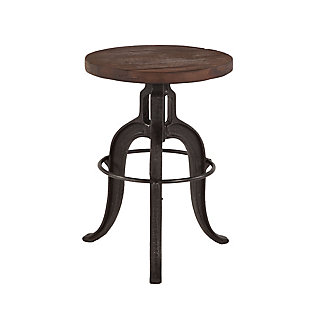 Paxton Adjustable Recycled Teak Bar Stool, , large