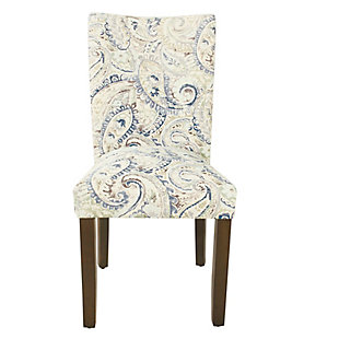 Classic Parsons Dining Chair - Blue Velvet Paisley Print (Set of 2), , rollover