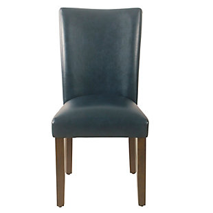 Classic Parsons Dining Chair - Navy Faux Leather (Set of 2), , rollover