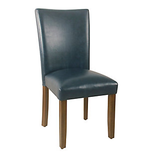 Classic Parsons Dining Chair - Navy Faux Leather (Set of 2), , large