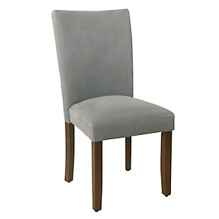 Classic Parsons Dining Chair - Gray Microfiber (Set of 2), , large