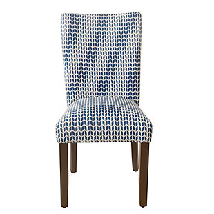 Classic Parsons Dining Chair - Blue Geometric (Set of 2), , rollover