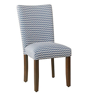 Classic Parsons Dining Chair - Blue Geometric (Set of 2), , large