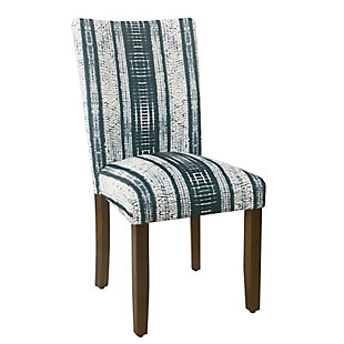 Classic Parsons Dining Chair - Indigo Stripes (Set of 2), , large