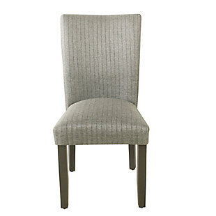 Classic Parsons Dining Chair - Gray stripe (Set of 2), , rollover