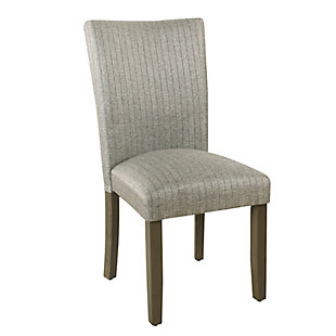 Classic Parsons Dining Chair - Gray stripe (Set of 2), , large
