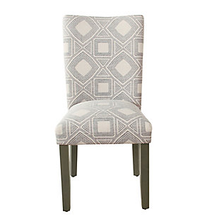 Classic Parsons Dining Chair - Charcoal Square Geometric (Set of 2), , rollover
