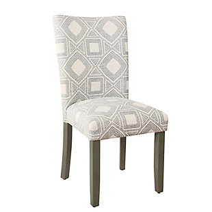 Classic Parsons Dining Chair - Charcoal Square Geometric (Set of 2), , large