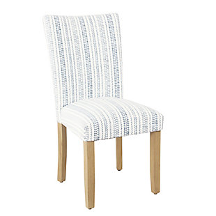 Classic Parsons Dining Chair - Blue Farmhouse Stripe (Set of 2), , large