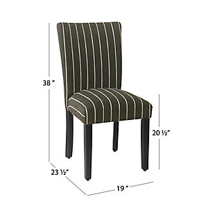 Classic Parsons Dining Chair - Black with Boucle Stripe (Set of 2), , large