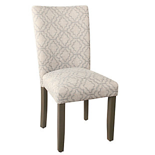 Classic Parsons Dining Chair - Gray Geometric (Set of 2), , large