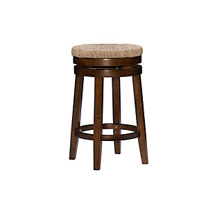Layne Walnut Swivel Counter Stool, Brown, large