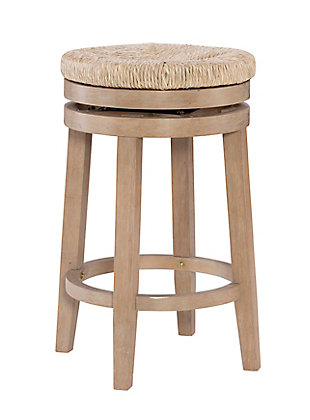 Layne Natural Swivel Counter Stool, Brown, large