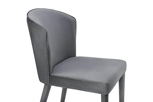 Metropolitan Metropolitan Gray Velvet Chair, Gray, large