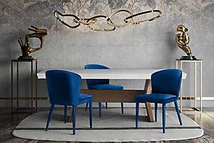 Metropolitan Metropolitan Navy Velvet Chair, Blue, rollover