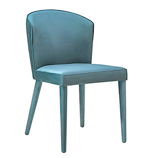 Metropolitan Metropolitan Sea Blue Velvet Chair, Sea Blue, large