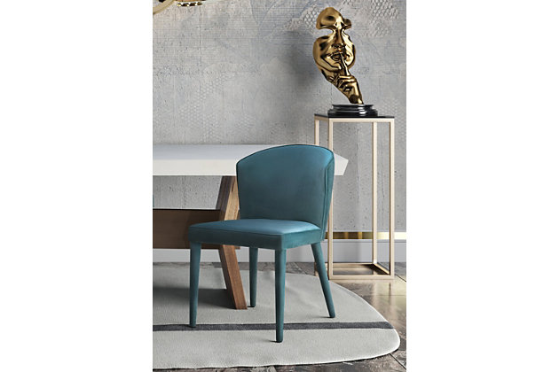 Metropolitan Metropolitan Sea Blue Velvet Chair, Sea Blue, large