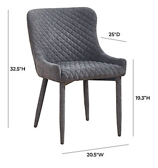 Draco Draco Gray Velvet Chair, Gray, large