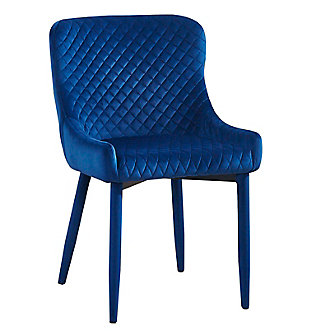 Draco Draco Navy Velvet Chair, Blue, large