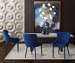 Draco Draco Navy Velvet Chair, Blue, large