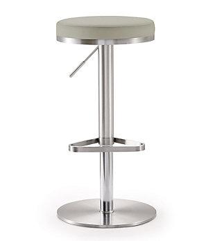 Fano Fano Light Gray Steel Adjustable Barstool, Gray/Chrome, large