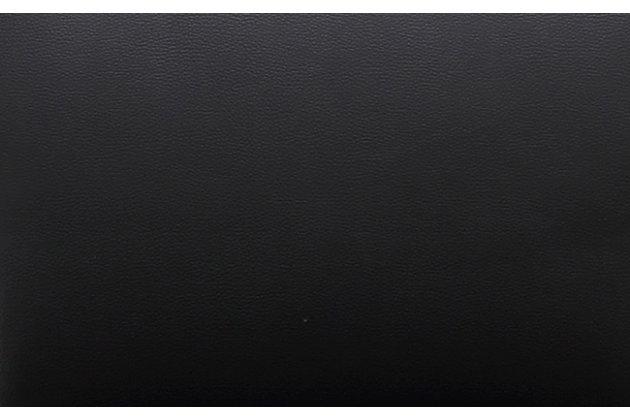 Amalfi Amalfi Black Steel Adjustable Barstool, Black/Chrome, large