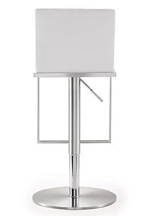 Amalfi Amalfi White Steel Adjustable Barstool, White/Chrome, large