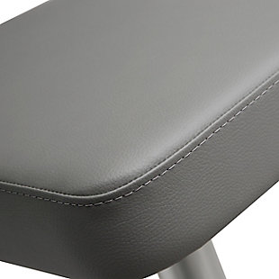 Cosmo Cosmo Gray Steel Barstool, Gray/Chrome, large