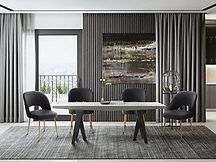 Swell Swell Dark Gray Velvet Chair, , rollover