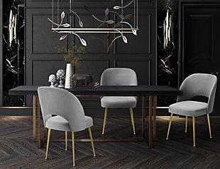 Swell Swell Light Gray Velvet Chair, , rollover