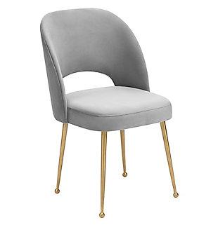 Swell Swell Light Gray Velvet Chair, , large