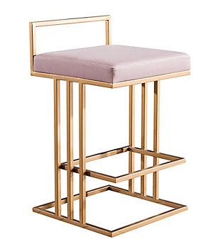 Trevi Trevi Blush Counter Stool, Pink/Gold, large